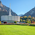 Fall At The Provo Temple by David Millenheft