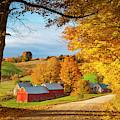 Fall Dawn In Vermont by Brian Jannsen