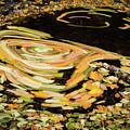 Fall Leaf Swirl by Jean Noren
