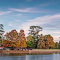 Fall Panorama Of Mcgovern Lake At Hermann Park - Houston Museum District Texas by Silvio Ligutti