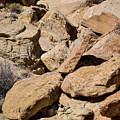 Fallen Sandstone Boulders by Brenda Landdeck