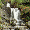 Falls At Inversnaid In Autumn by Victor Lord Denovan