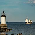 Fame Sailing Into Salem Harbor by Jeff Folger