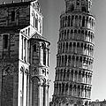 Famed Leaning Tower Of Pisa Standing by Margaret Bourke-white