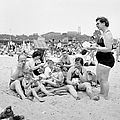 Family Eating Sandwiches On The Beach by New York Daily News Archive