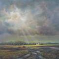 Farm In Spring by Katalin Luczay