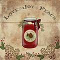 Farmhouse Christmas Lodge Love Joy Peace by Audrey Jeanne Roberts