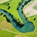 Farmland Patchwork, Aerial View by Vpopovic