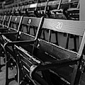 Fenway Park Seats Black And White Boston Ma by Toby McGuire