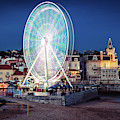 Ferris Wheel In Cascais, Portugal by Alexandre Rotenberg