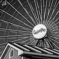Ferris Wheel Seaside Boardwalk Bw by Susan Candelario