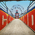 Ferry Wheel At Amusement Park With by Ed Freeman
