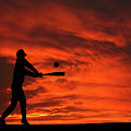 Field Of Dreams Baseball Sports Sunset Silhouette Series   by David Dehner