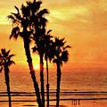 Fiery California Sunset Oceanside Beach by Gabriele Pomykaj