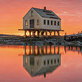 Fiery Skies At Cape Porpoise by Jesse MacDonald