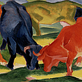 Fighting Cows By Franz Marc by Superstock