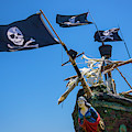 Figurehead On Black Flag Pirate Ship by Garry Gay