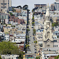 Filbert Street San Francisco Cityscape R504 Sq by Wingsdomain Art and Photography