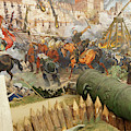 Final Assault And The Fall Of Constantinople In 145 by Steve Estvanik