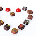 Fine Chocolate Displayed In A Form Of Heart.  by Cristina Stefan