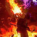 Fireline At Dusk by Robert Potts