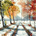 First Snow by Suzann Sines