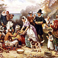 Thanksgiving At Plymouth  by Doc Braham