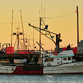 Fishing Boat At Sunset by Lost River Photography