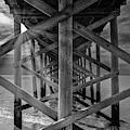 Fishing Pier Keansburg Nj Bw by Susan Candelario