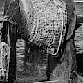 Fishing Troller Nets Bw by Susan Candelario