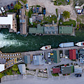 Fishtown Dam Panorama From Above by Twenty Two North Photography