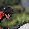 Five to One -- Jockey Tyler Baze on Race Horse Gem of Marina at Santa Anita Park, California