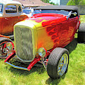 Flamed Red 1932 Ford Roadster by David King