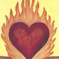 Flaming Heart by Linda Humes
