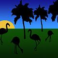 Flamingo Sunrise by Kirt Tisdale