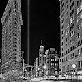 Flatiron Nyc 911 Tribute In Light Bw by Susan Candelario
