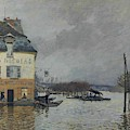 Flood At Port-marly, 1876 04 by Alfred Sisley