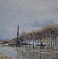 Flood At Port-marly, 1878 by Alfred Sisley