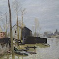 Flooding At Moret, 1889 by Alfred Sisley