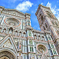 Florence Duomo And Campanile by Carolyn Derstine