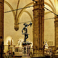Florence - Perseus At The Loggia - Vintage by Weston Westmoreland