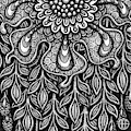 Floriated Ink 14 by Amy E Fraser