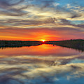Florida Sunset At Arthur R. Marshall Loxahatchee National Wildlife Refuge by Juergen Roth