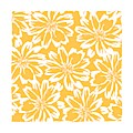 Flower Block Print Pattern - Orange Square by Patricia Strand