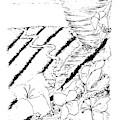 Flower Farmers Tornado Paint My Sketch by Delynn Addams