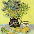 Flowerpiece And Fruit, 1888  by Vincent Van Gogh