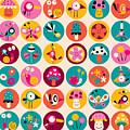 Flowers, Birds, Mushrooms & Snails by Alias Ching