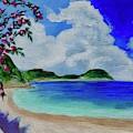 Flowers On The Beach by Jacqueline Athmann