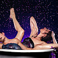 Achelois And Sister Bathing In The Galaxy by Dennis Dame