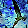 Flying Seagulls by Joan Reese